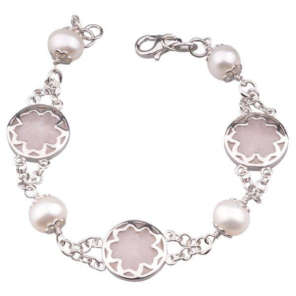 Серебрянные браслеты с жемчугом
