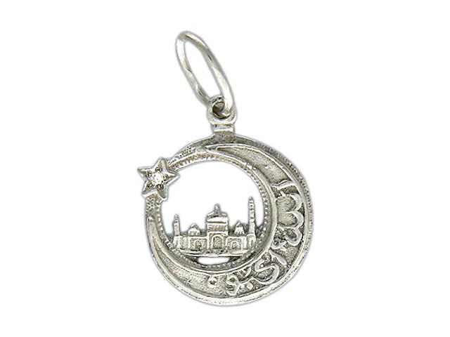46151 - Мусульманская подвеска изготовлена из серебра 925 пробы и украшена фианитом.br Средний вес этого кулона 1.44