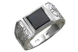 Перстень мужской серебро с сапфиром - Все сапфиры здесь