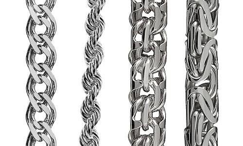 Серебряные цепочки для мужчин виды плетения